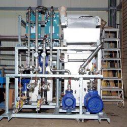 Pumpstation mit 3 Wasserkreisläufen für eine Induktivhärteanlage zum Kühlen von Abschreckmittel und div. Leistungselektrik; Komplette Baugruppe anschlussfertig