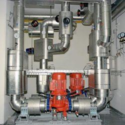 Rauchgas-Kühlsystem mit Doppelpumpenanlage; Leistung 850 kW