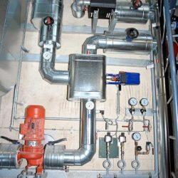 Rauchgas-Kühlsystem mit MSR- und Sicherheitstechnik, Druckhaltung, Abwärmeauskopplung; Leistungen 700...1000 kW